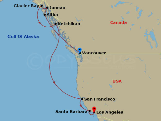 Northwest Gold Rush - 11 Night Cruise - Vancouver to Los